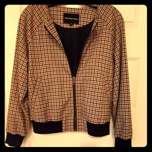 Plaid zip jacket  Fully Lined. Never worn